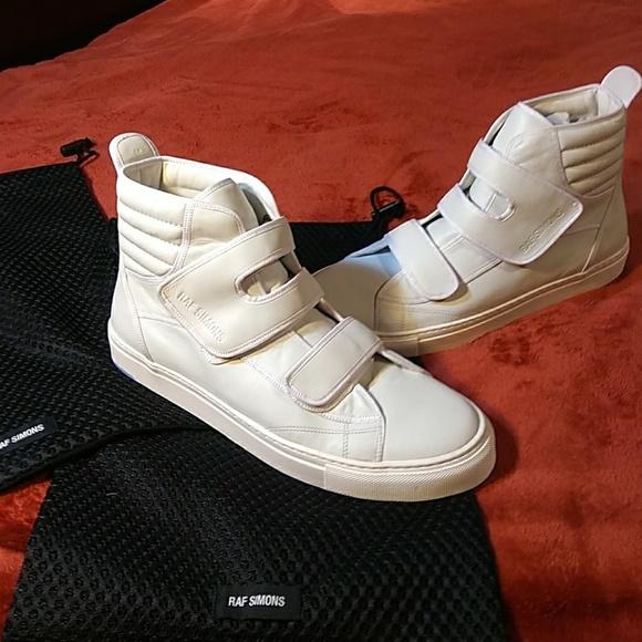 Raf Simons Velcro High Tops White